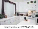 white modern kitchen interior.... | Shutterstock . vector #25726010