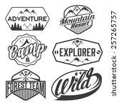 set of vintage labels mountain... | Shutterstock .eps vector #257265757