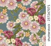 seamless floral pattern  flower ... | Shutterstock .eps vector #257267071