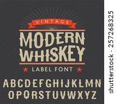 whiskey label font and sample... | Shutterstock .eps vector #257268325