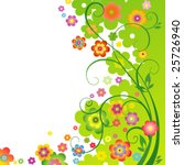 spring flower background | Shutterstock .eps vector #25726940