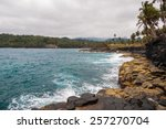 cliffs on a tropical shore with ... | Shutterstock . vector #257270704