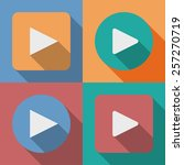 set of play button icons with a ... | Shutterstock . vector #257270719