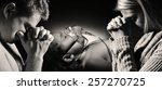 parents pray for the health of... | Shutterstock . vector #257270725