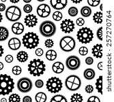 seamless pattern with gears | Shutterstock . vector #257270764