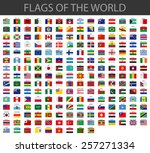 world flags vector | Shutterstock .eps vector #257271334