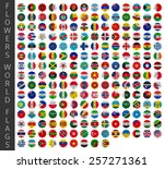 flowers world flags | Shutterstock .eps vector #257271361