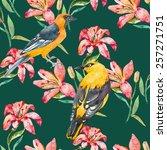 seamless vector floral pattern. ... | Shutterstock .eps vector #257271751