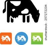 dairy cow icon   Shutterstock .eps vector #257272234