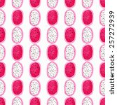 dragon fruit or pitahaya... | Shutterstock .eps vector #257272939