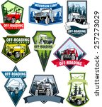 set of vector emblems with 4x4... | Shutterstock .eps vector #257273029