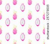 dragon fruit or pitahaya... | Shutterstock .eps vector #257273035