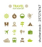 vector flat icon set   travel | Shutterstock .eps vector #257276767