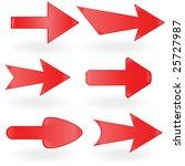 red arrow. vector illustration   Shutterstock .eps vector #25727987