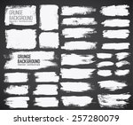 set of  ink vector stains | Shutterstock .eps vector #257280079