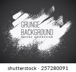 set of  ink vector stains | Shutterstock .eps vector #257280091