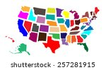 united states   every state... | Shutterstock .eps vector #257281915