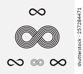 set of infinity symbols  vector