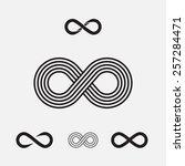 set of infinity symbols  vector ... | Shutterstock .eps vector #257284471