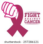 breast cancer design over white ... | Shutterstock .eps vector #257286121