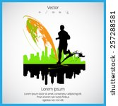 sport vector illustration | Shutterstock .eps vector #257288581