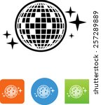 disco   mirror ball icon | Shutterstock .eps vector #257289889