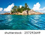 beautiful st. pierre island at... | Shutterstock . vector #257292649