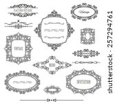 vintage frames  dividers and... | Shutterstock .eps vector #257294761