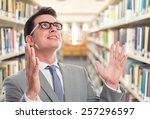 business man with grey suit. he ... | Shutterstock . vector #257296597
