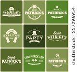 typographic saint patrick's day ... | Shutterstock .eps vector #257296954