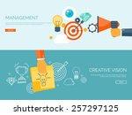 flat vector illustration... | Shutterstock .eps vector #257297125
