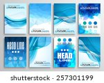 set of flyer design ... | Shutterstock .eps vector #257301199