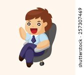 office workers theme elements  | Shutterstock .eps vector #257307469