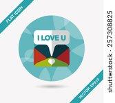 valentine's day love letter... | Shutterstock .eps vector #257308825