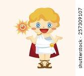 greek deity theme elements   Shutterstock .eps vector #257309107