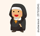 pastor and nun theme elements | Shutterstock .eps vector #257310541