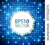 shining circle retro banner on... | Shutterstock .eps vector #257322271