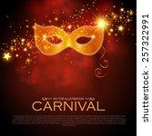 bright shining carnival poster... | Shutterstock .eps vector #257322991