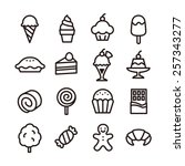 sweets icons   vector...