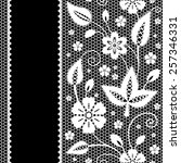 floral lace background with... | Shutterstock . vector #257346331