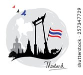 thailand place landmark travel... | Shutterstock .eps vector #257347729