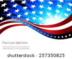 abstract image of the american... | Shutterstock .eps vector #257350825