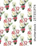 seamless pattern from roses.... | Shutterstock . vector #257351974