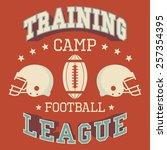 training camp american football ... | Shutterstock .eps vector #257354395