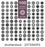 round ornament set. 100 vector... | Shutterstock .eps vector #257356591