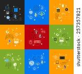 technology sticker infographic   Shutterstock . vector #257357821