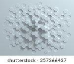 hexagonal abstract 3d background | Shutterstock . vector #257366437