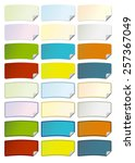 a series of colorful curved... | Shutterstock .eps vector #257367049