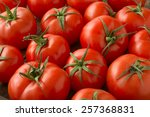 red tomatoes background. group... | Shutterstock . vector #257368831
