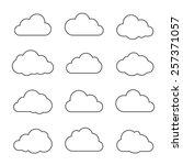 vector illustration of clouds... | Shutterstock .eps vector #257371057